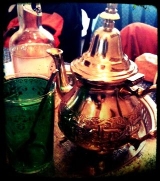 Mint tea in Cafe Maroc