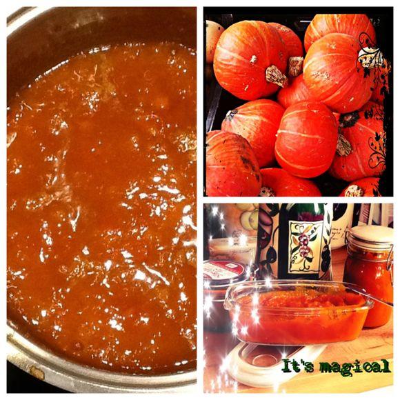 The autumn and pumpkin jam