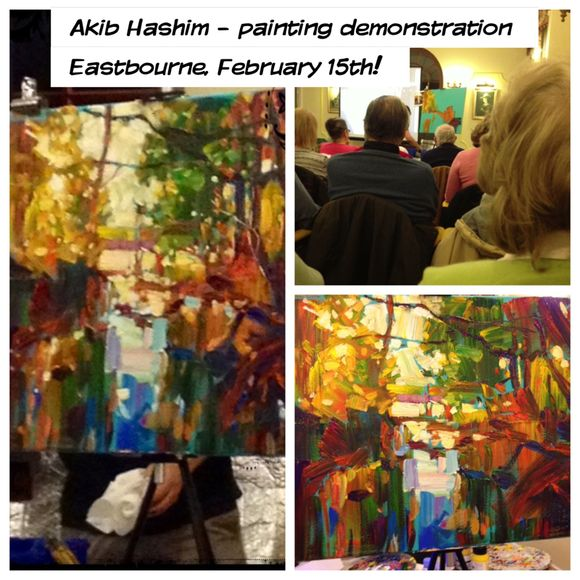 Hashim Akib and an art demonstration to remember